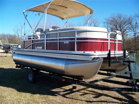 lowe pontoon boats prices lowe ss190 pontoon boat for sale from usa