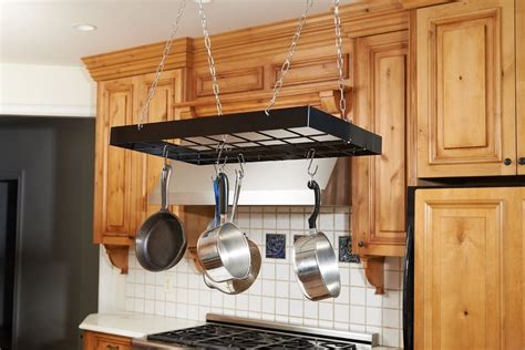 hanging pots and pans from ceiling heavy duty pot pan ceiling rack hook hanger metal hanging