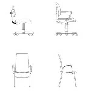Office Chair Autocad Drawing Bureau Dwg Blocscad
