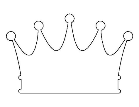 crown printable template crown pattern use the printable outline for crafts