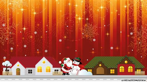 christmas city lights 1600x900 wallpaper
