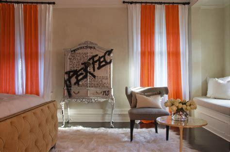 orange bedroom curtains orange curtains eclectic bedroom jarlath mellett