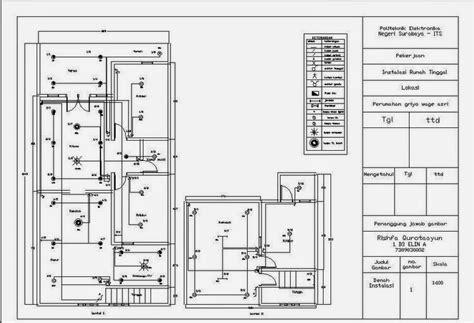 gambar sketsa instalasi listrik sederhana 28 images