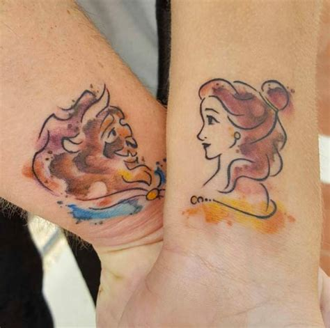 disney couple tattoos 34 matching tattoos all will appreciate