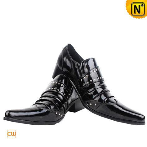 mens designer black leather dress shoes cw760026 cwmalls
