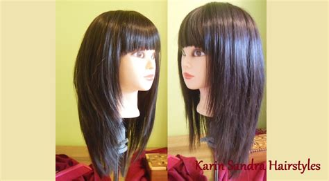 Hairstyles With Bangs Tutorial by Layered Bob Haircut With Bangs Length Layers