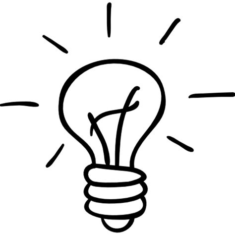 Light Bulb Outline Png by Light Bulb Outlined Tool Free Interface Icons