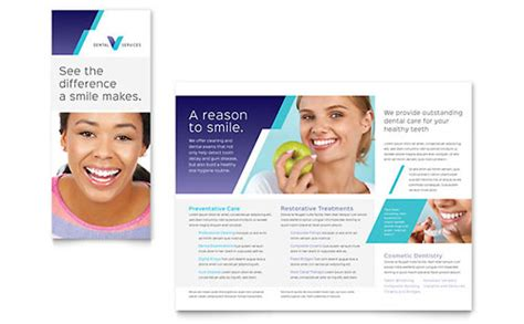 dental brochure templates dentist flyer template design