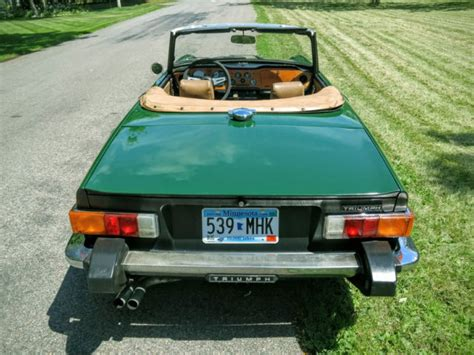 Classic Car Covers For Sale 1976 Triumph Tr6 1 Owner From New 80k Orig