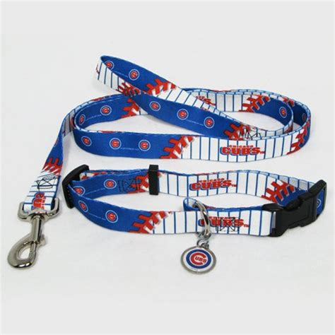 cubs collar chicago cubs pet set leash collar id tag large