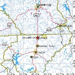 map of dillard related keywords suggestions for dillard ga