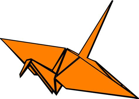 Origami Crane Clipart - paper crane clip at clker vector clip