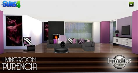 My Sims 4 Blog Purencia Living Room Set By Jomsims Sims 2 Living Room Sets