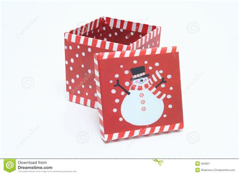 christmas box decorations stock image image of gift