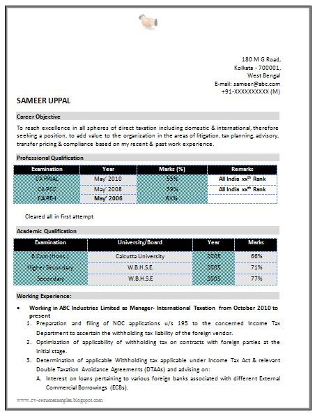 10000 cv and resume sles with free ca resume sle with cover letter
