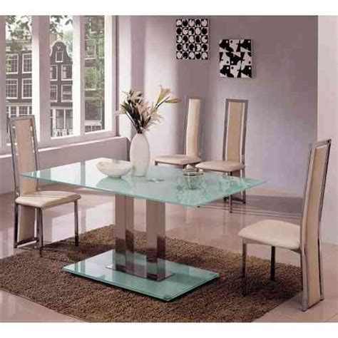 glass dining table and 6 chairs sets