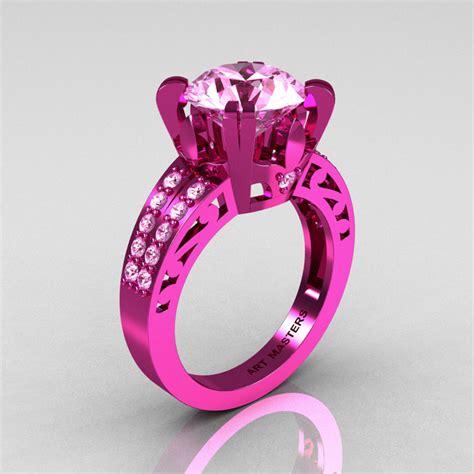 modern vintage 14k pink gold 3 0 ct light pink sapphire