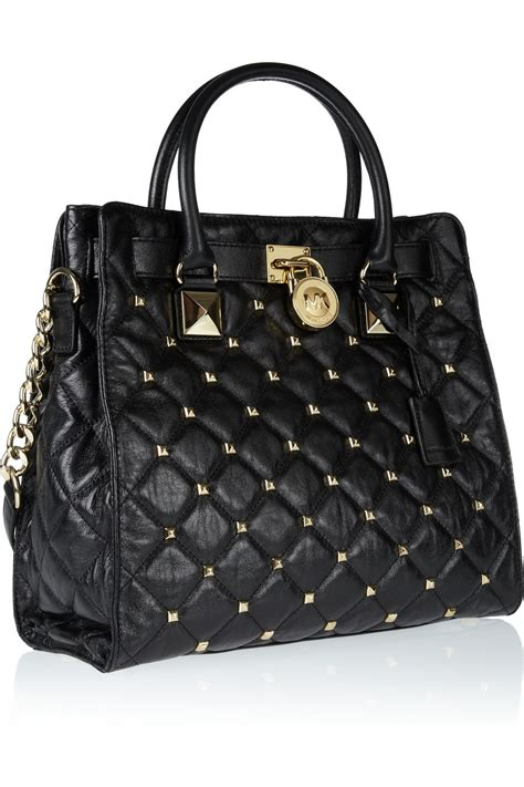 Michael Kors Hamilton Quilted Tote by Michael Michael Kors Hamilton Studded Quilted Leather Tote