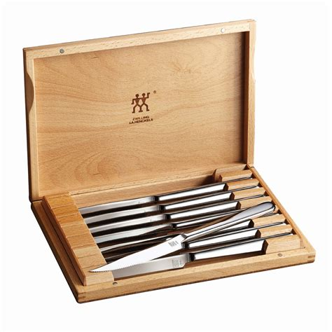 High Carbon Stainless Steel Kitchen Knives zwilling j a henckels 8 pc stainless steel steak knife