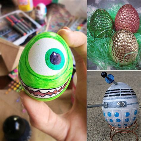 egg decorating ideas unique egg decorating ideas popsugar tech