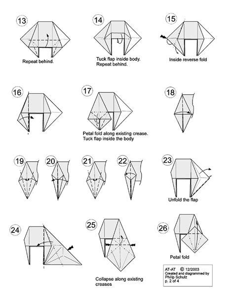 Origami At At - wars origami