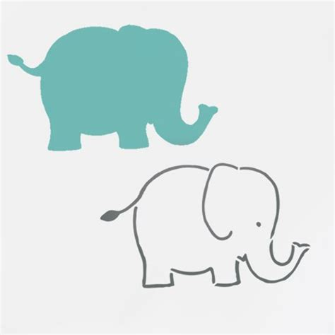 baby elephant template baby elephant nursery wall pattern stencil nursery and