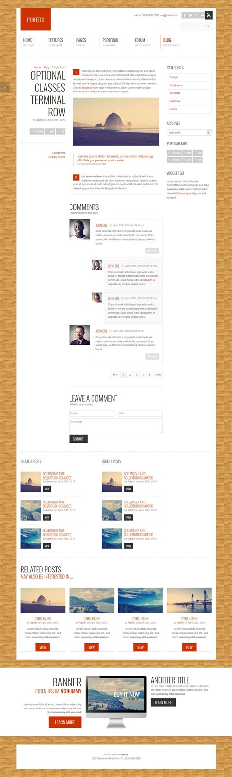 themeforest navbar perfetto responsive bootstrap template by angelom