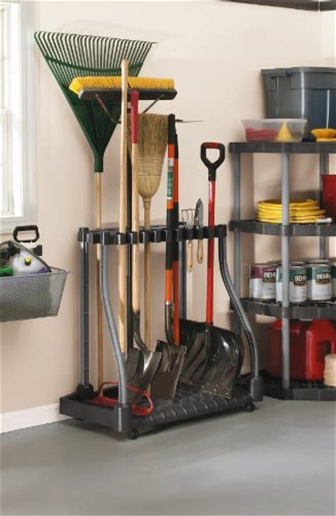 rubbermaid 40 tool shed tower rack organizer shovel rake