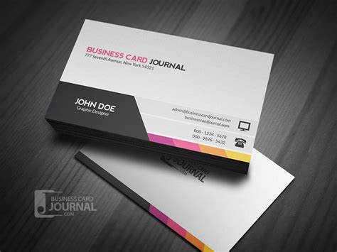 business card template with photo 20 professional free business card templates and mockups