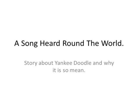 yankee doodle meaning song yankee doodle authorstream