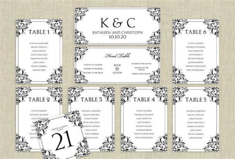 wedding seating chart template  instantly