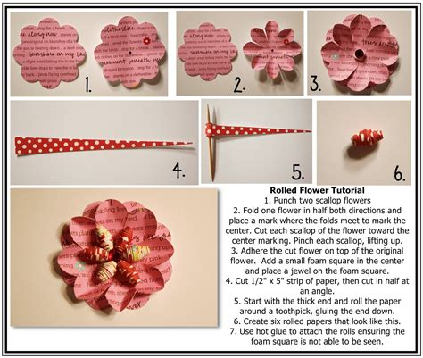 tutorial paper flowers scrapbooking bits of paper rolled flower tutorial