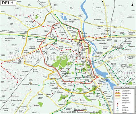 political map of delhi delhi map