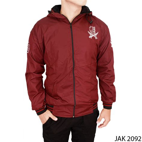 jaket pria casual parasut maroon jak 2092 gudang fashion