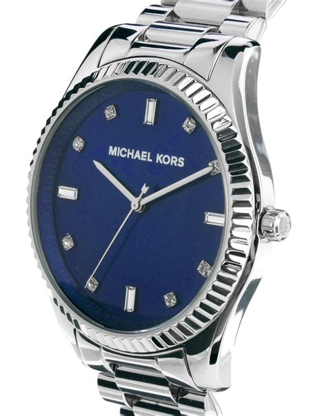 Michael kors Watch Silver Bracelet Strap in Blue for Men   Lyst