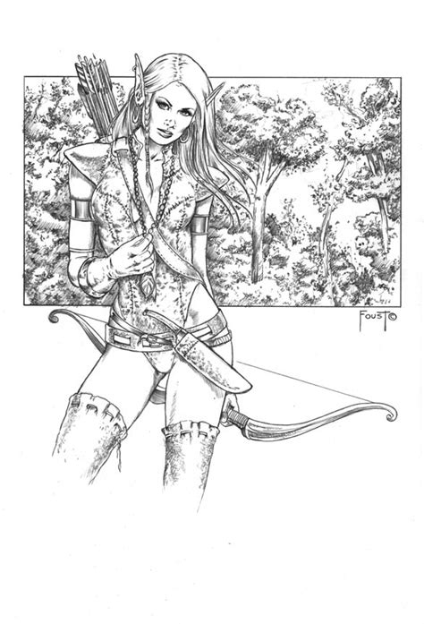 wood elf coloring pages wood elf by mitchfoust on deviantart