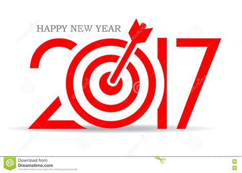 start of new year 2017 successful 2017 new year card design stock vector image