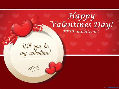 free abstract valentine s day template for powerpoint