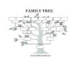 Family Tree Blank Outline by Blank Family Tree Openoffice Template
