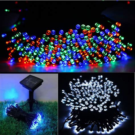 Solar Powered String Lights Patio 100leds 12 M Waterproof Decorative Copper Globe Solar Powered Led String Lights Outdoor Garden