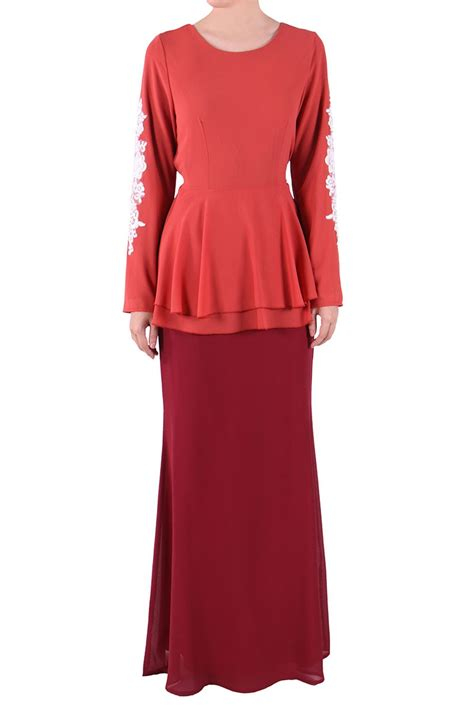 Baju Care baju kurung for peplum and lace hairstylegalleries
