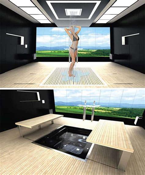 space saving design 55111br 1st floor master suite 5 dynamic bathroom designs hidden into the walls