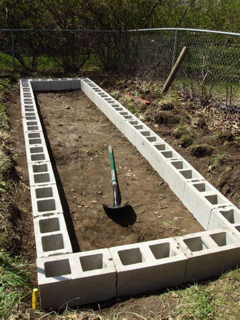 raised garden with cinder blocks a raised garden bed with cinder blocks eco snippets