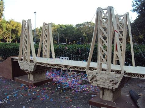 Popsicle Stick Suspension Bridge What Is The Best Design For A Popsicle Stick Bridge Quora