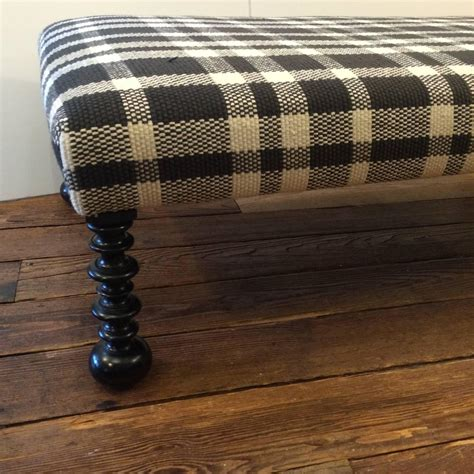 black and white ottoman striking traditional black and white plaid ottoman for