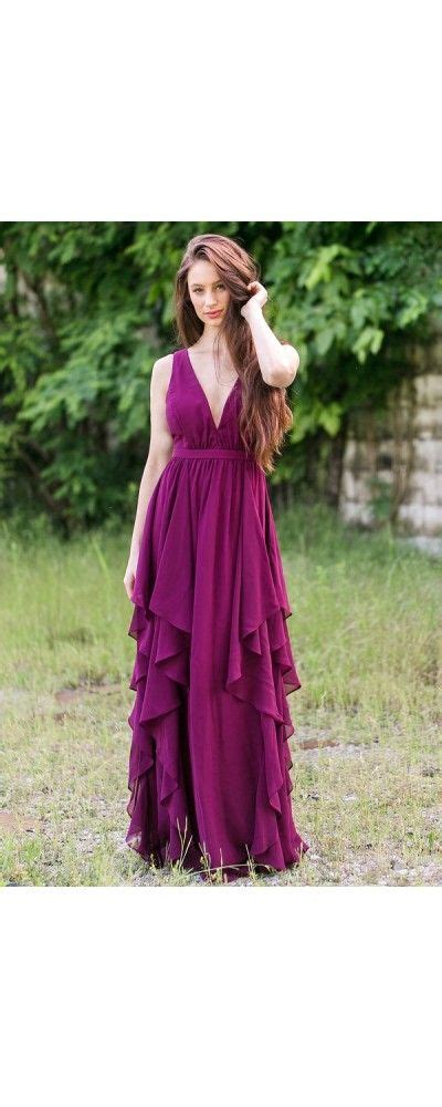 Ruffles Velvet Maxi Dress Formal boutique ruffled maxi dress in plum purple 76 plum purple ruffle maxi bridesmaid