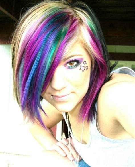hairstyles with teal highlights pink purple teal highlights my summer hair ideas