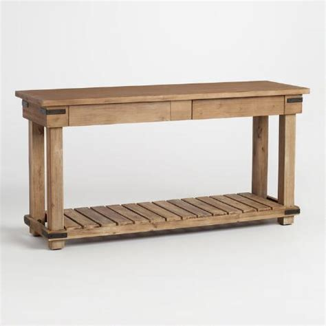 distressed wood sofa table distressed wood cameron console table world market