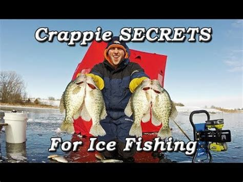 crappie secrets ice fishing minnows  wax worms youtube