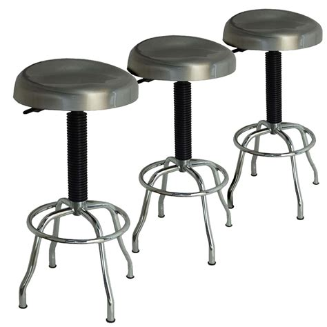 Stainless Steel Stools Kitchen by Buy Set Of 3 Stainless Steel Stools Combination Package